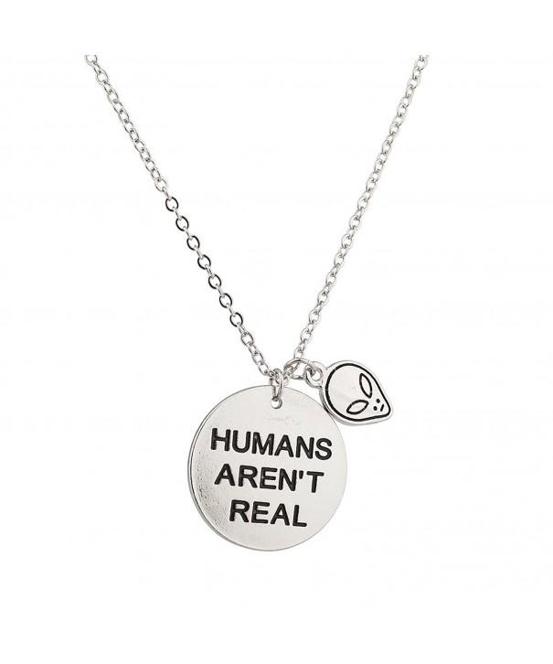 Lux Accessories Humans Pendant Necklace
