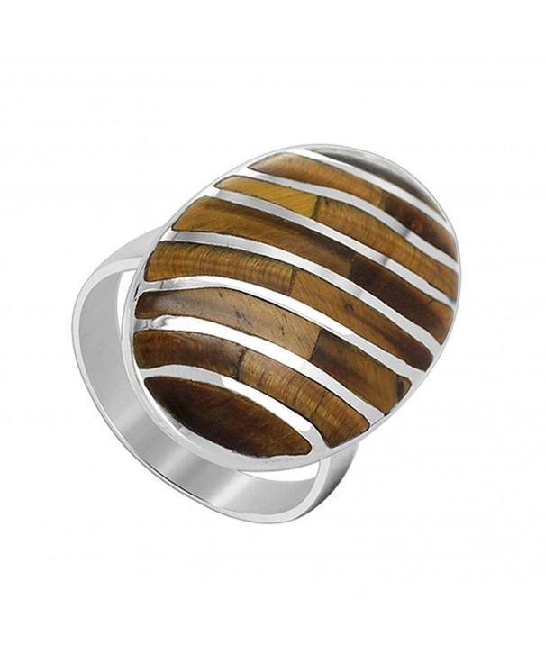 Gem Avenue Sterling Gemstone Stripes
