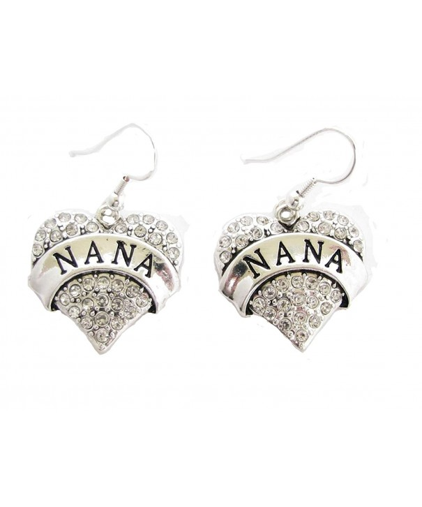 Crystals Silver French Earrings Jewelry