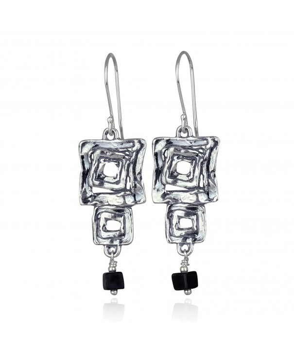 Contemporary Earrings Squares Sterling Earring