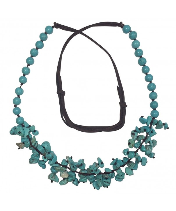 Imitation Turquoise Cluster Beaded Necklace