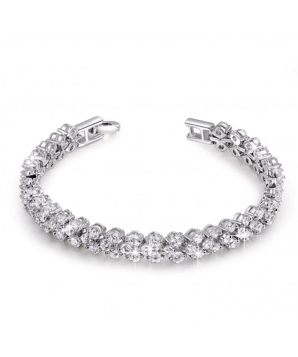 QIANSE Zirconia Gemstone Earrings Necklace