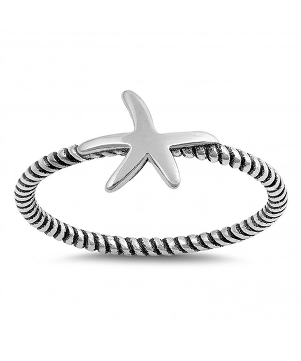 Starfish Ocean Animal Sterling Silver
