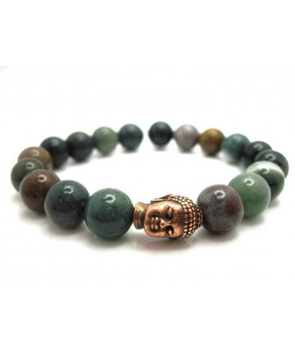 Indian Agate Buddha Energy Bracelet