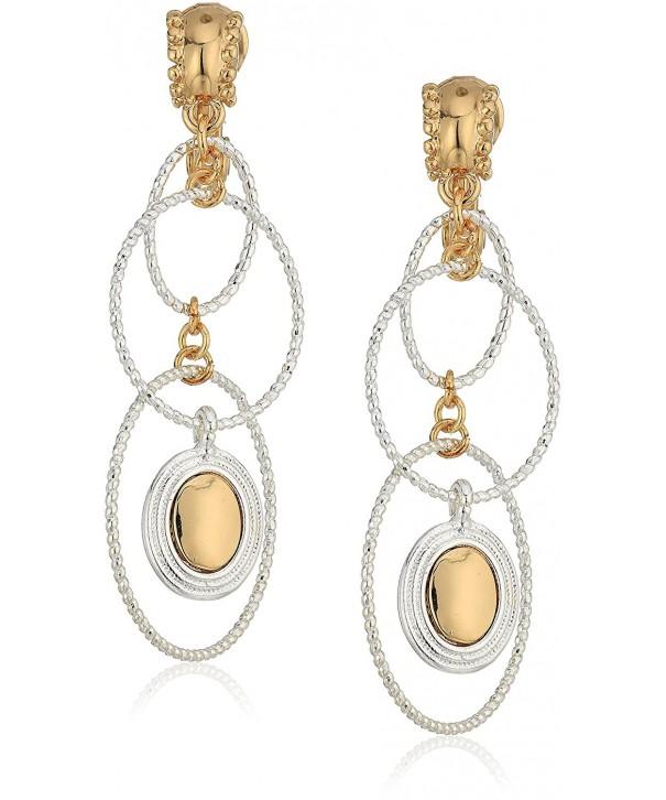 Napier Womens Linear Earrings Two Tone