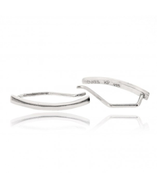 Sovats Curved Earring Sterling Rhodium