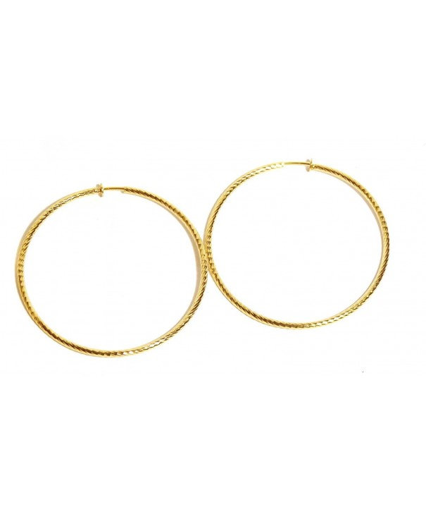 Clip Earrings Textured Hypoallergenic Hoops