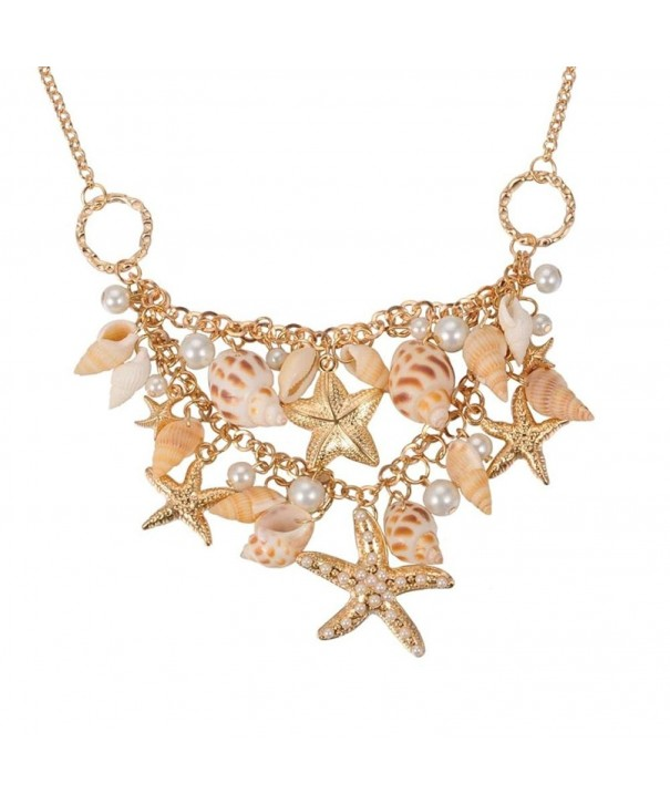 Fashewelry Necklaces Starfish Statement Necklace