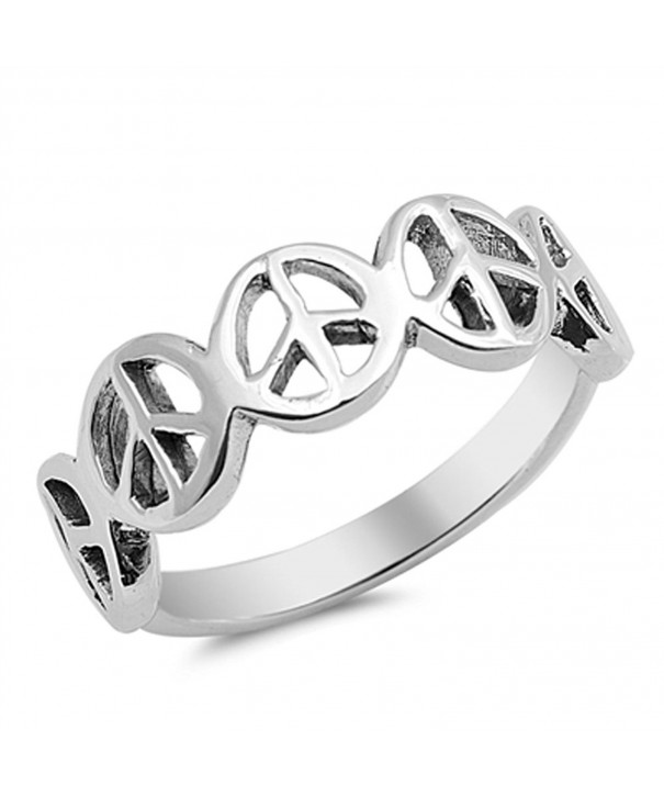 Peace Sign Friendship Sterling Silver