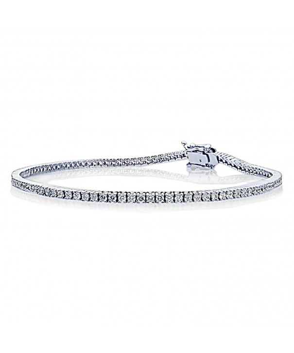 Sterling Silver Rhodium Plated Bracelet