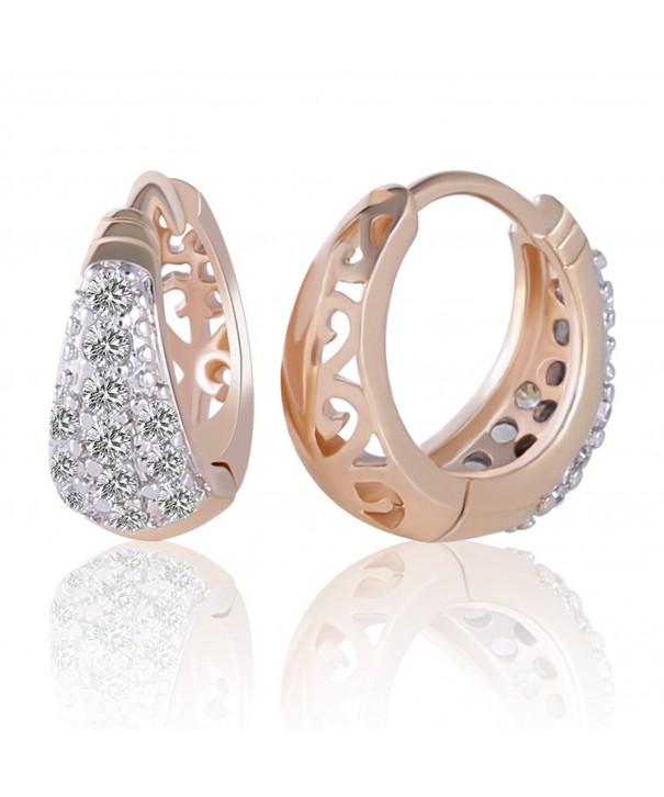 GULICX Gorgeous White Rhinestone Earrings