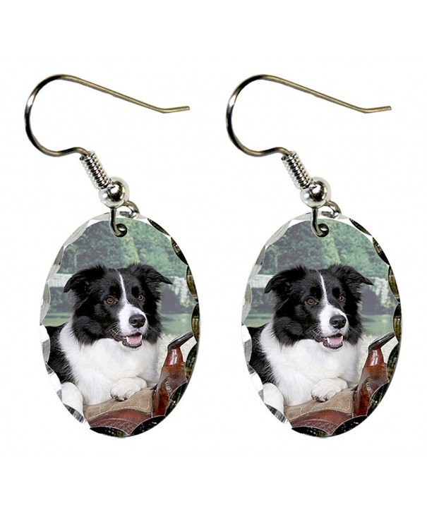 Canine Designs Border Scalloped Earrings