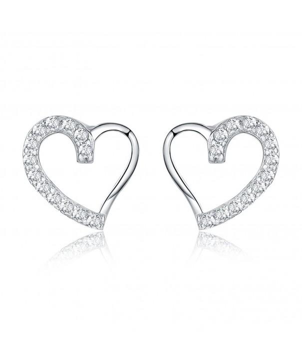 AoedeJ Heart Earrings Sterling Silver