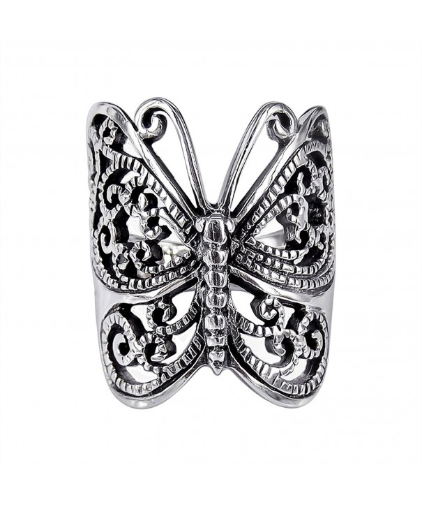 Sterling Silver Large Victorian Butterfly