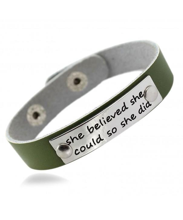 MIKINI Believed Inspirational Genuine Bracelet