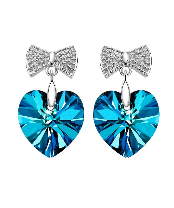 SIVERY Sterling Earrings Swarovski Crystals