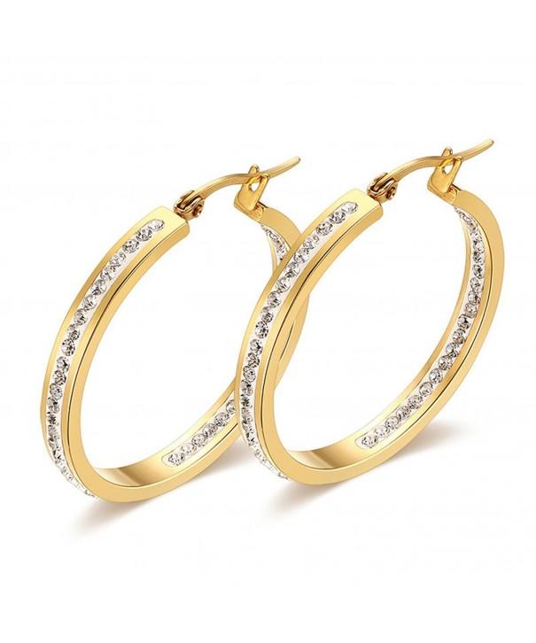 JAJAFOOK Rhinestones Earrings Nickel free Hypoallergenic