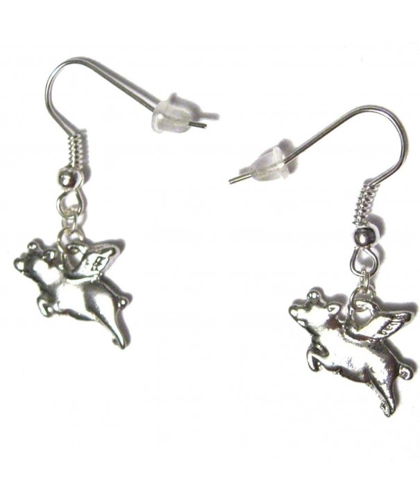 Flying Silver Plated French Earrings