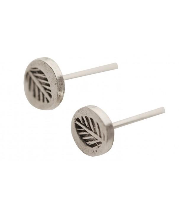 Sterling Silver Leaf Fossil Earrings