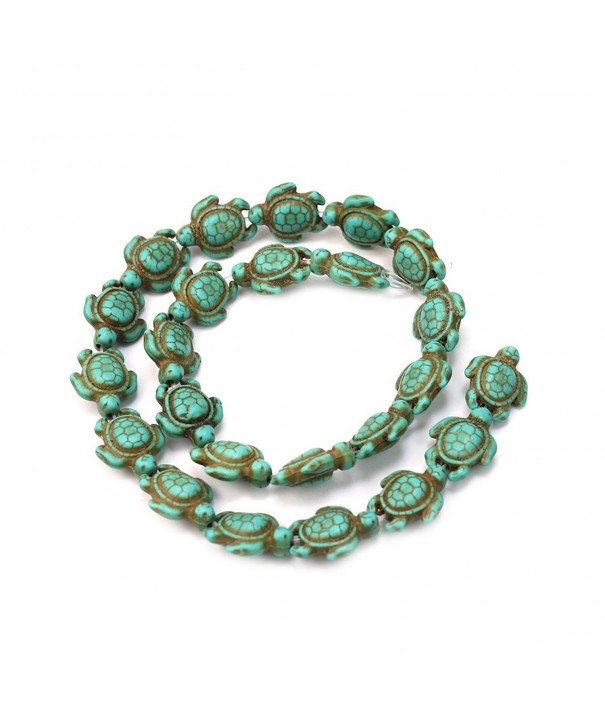 Fashion Strand Turquoise Carved Turtle