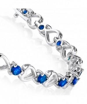 Sterling Silver Sapphire Zirconia Bracelet