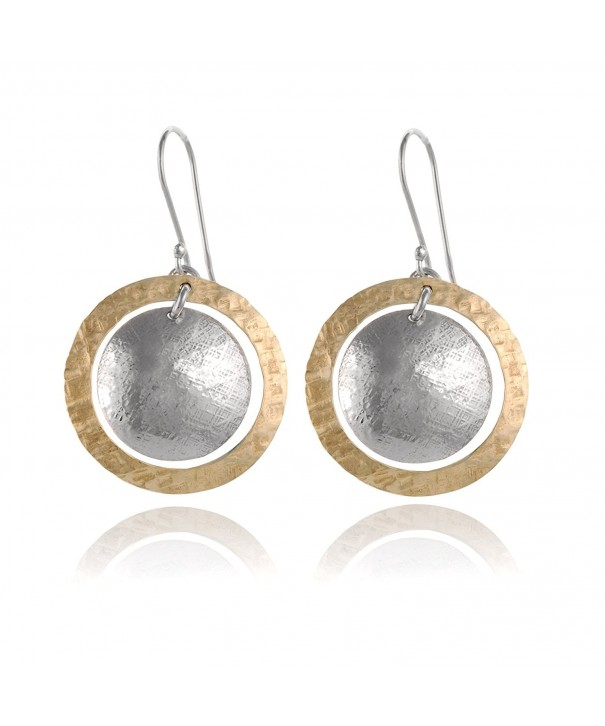 Hammered Circle Earring Sterling Earrings