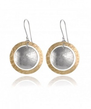 Hammered Circle Earring Sterling Earrings