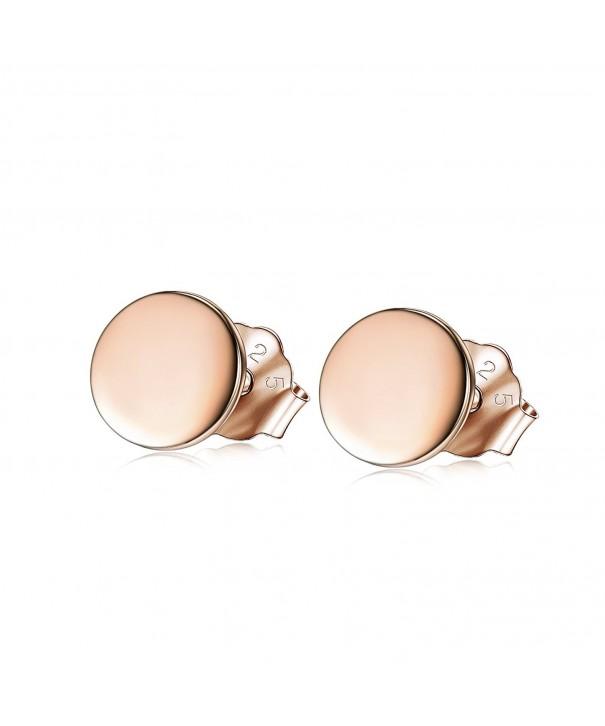 Stud Earrings Rose Sterling Silver