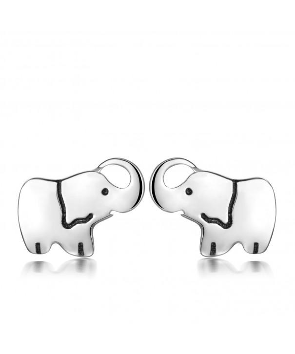 YAXING Sterling Elephant Earrings Earring