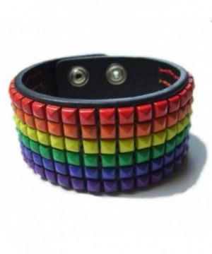 Gay Rainbow Sisters Leather Bracelet