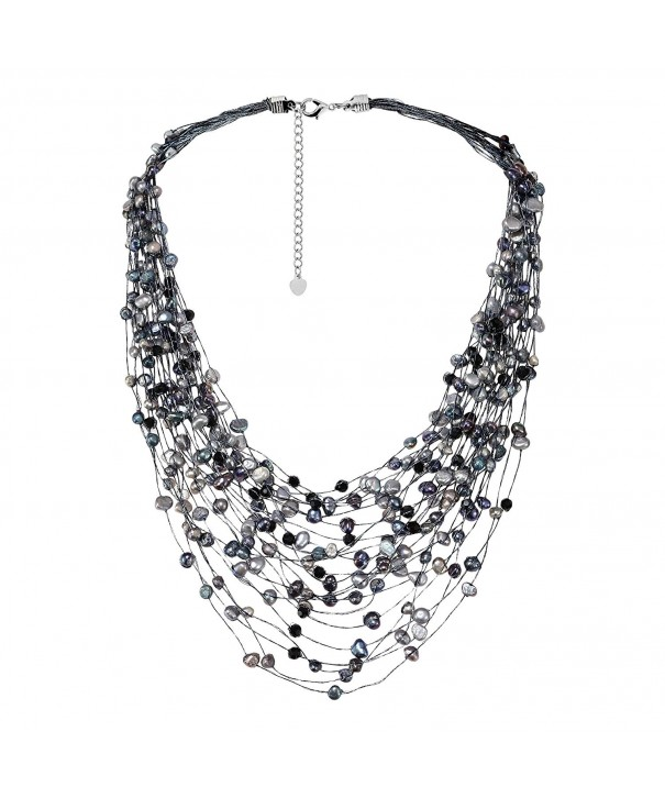 Cultured Freshwater Fashion Crystal Necklace