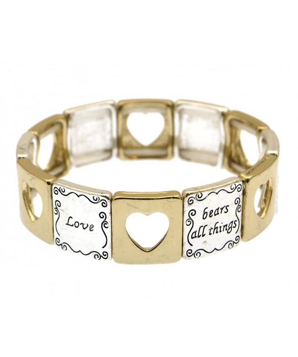 Corinthians 13 Scripture Engraved Bracelet