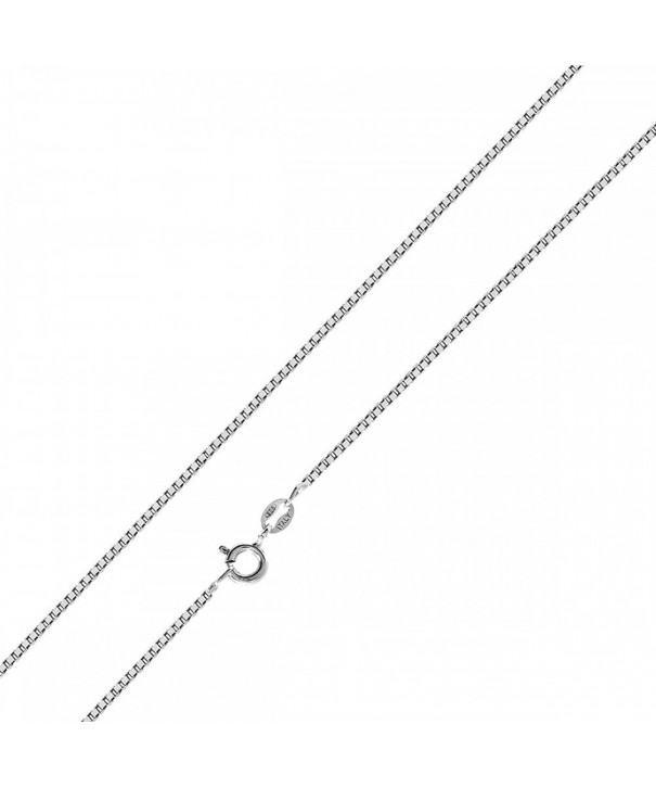 Sterling Silver Chain Necklace 0 8MM