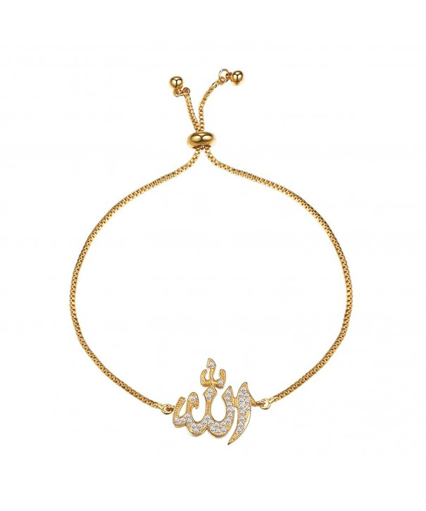 Bracelet Zirconia Adjustable Jewelry Islamic