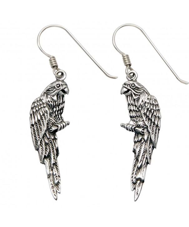Sterling Silver Parrot Perch Earrings
