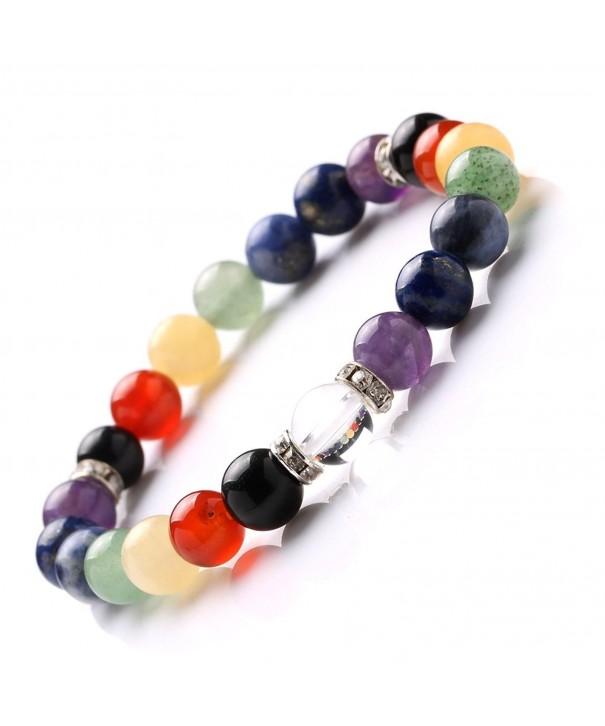 Gemstones Balancing Stretch Bracelet Handmade