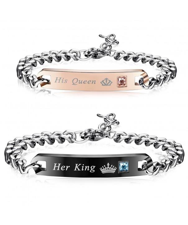 Finrezio Couples Bracelets Bracelet Stainless