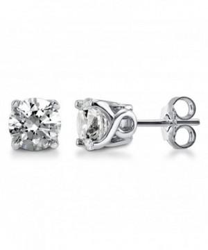 BERRICLE Sterling Solitaire Earrings Swarovski