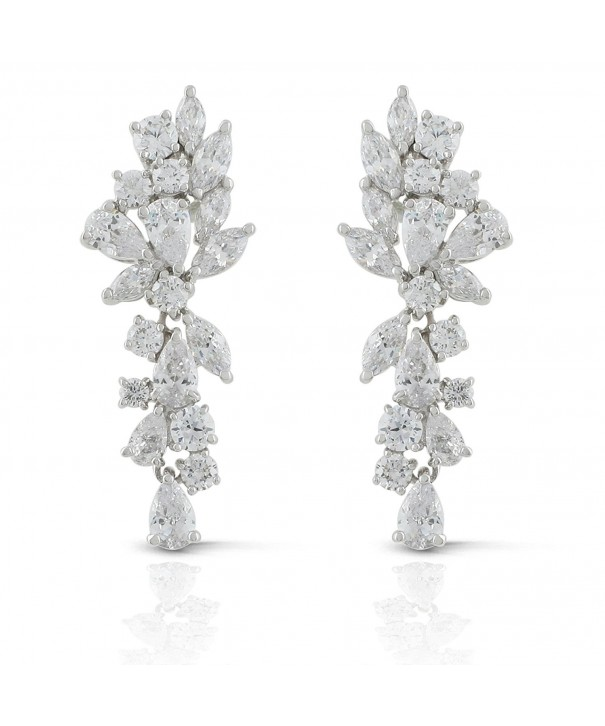 JanKuo Jewelry Marquise Zirconia Chandelier