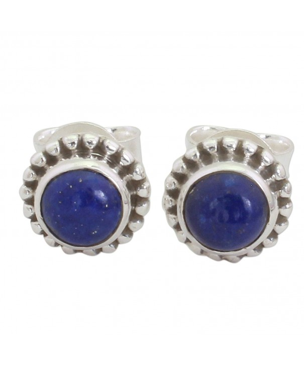 NOVICA lazuli Sterling Silver Earrings