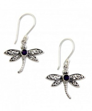 NOVICA Sterling Amethyst Enchanted Dragonfly