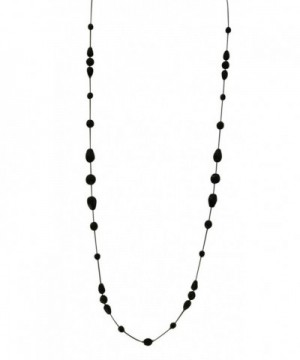 Necklace Women Handcrafted Black Crystal