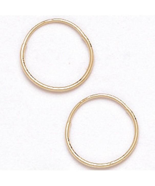 14K Gold Hoop Earrings HE1