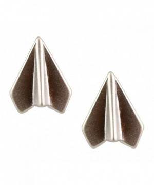 AppleLatte Earrings Lightweight Silver Airplane