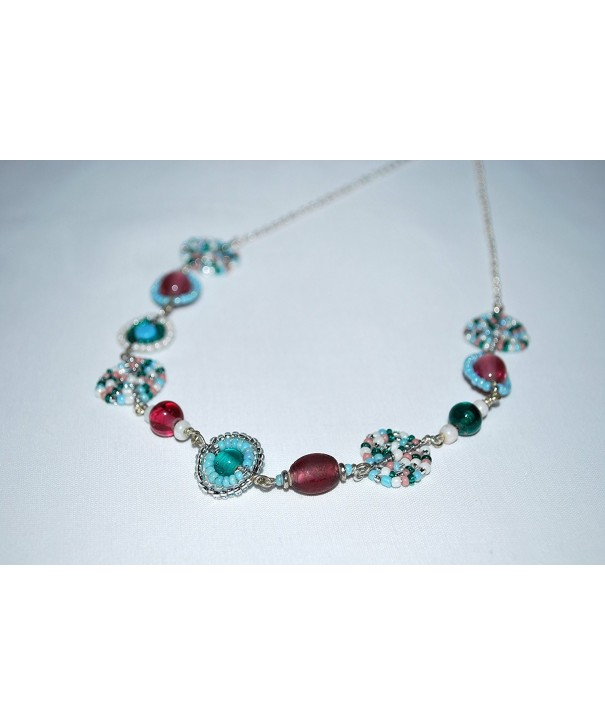 Womens Elegant Turquoise Necklace Handmade
