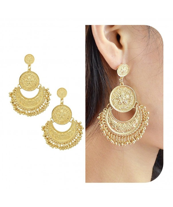 Feelontop Ethnic Brocade Earrings Jewelry