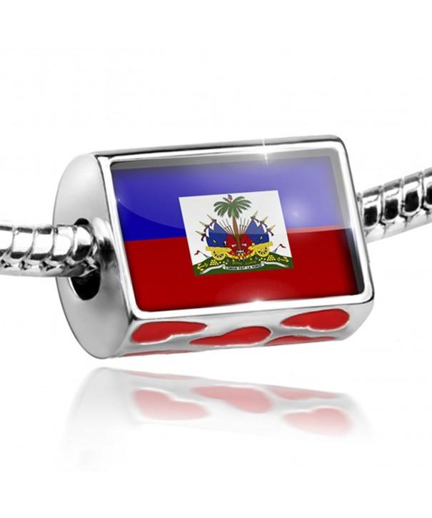 Bead Hearts Haiti Flag Bracelets