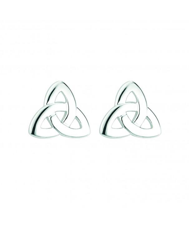 Trinity Earrings Silver Plated Irish