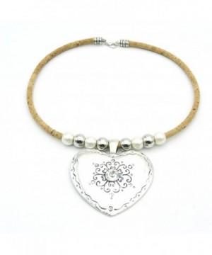 Natural Cork necklace sliver N 91