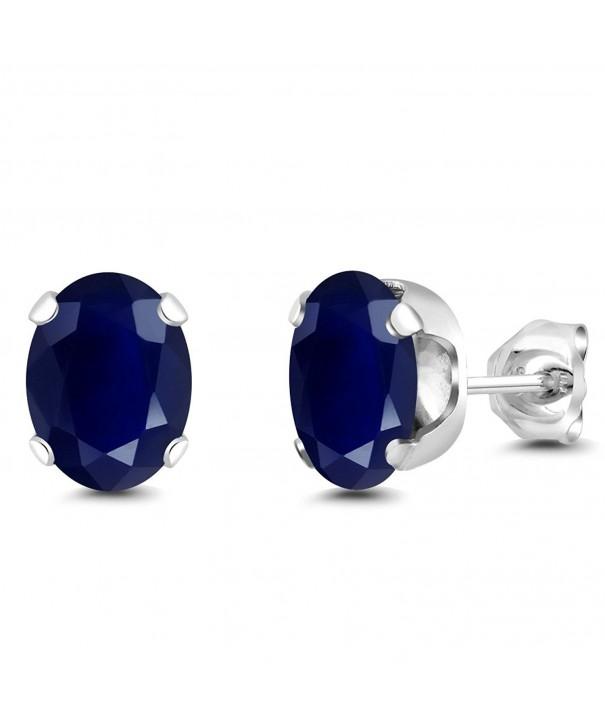 Sterling Sapphire Gemstone Birthstone Earrings